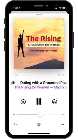 The Rising podcast on iphone